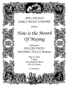 The Lincoln Early Music Consort: Now is the Month of Maying
